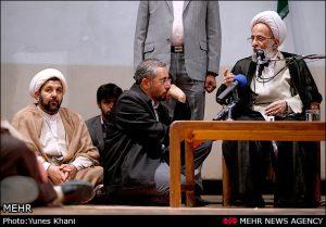 آیت الله محمد تقی مصباح یزدی و کامران باقری لنکرانی