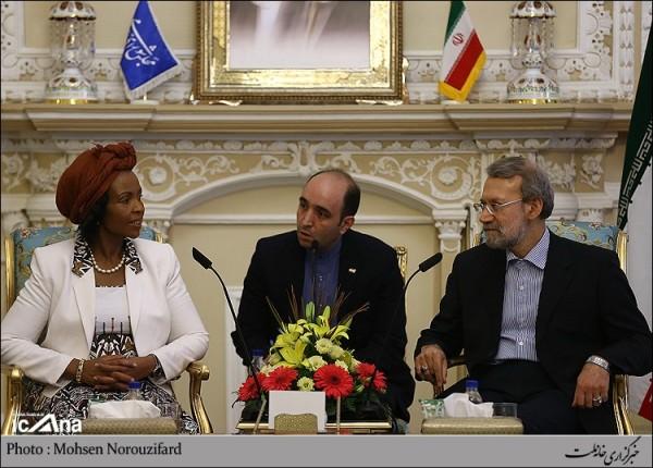 لاریجانی و وزیر امور خارجه افریقای جنوبی